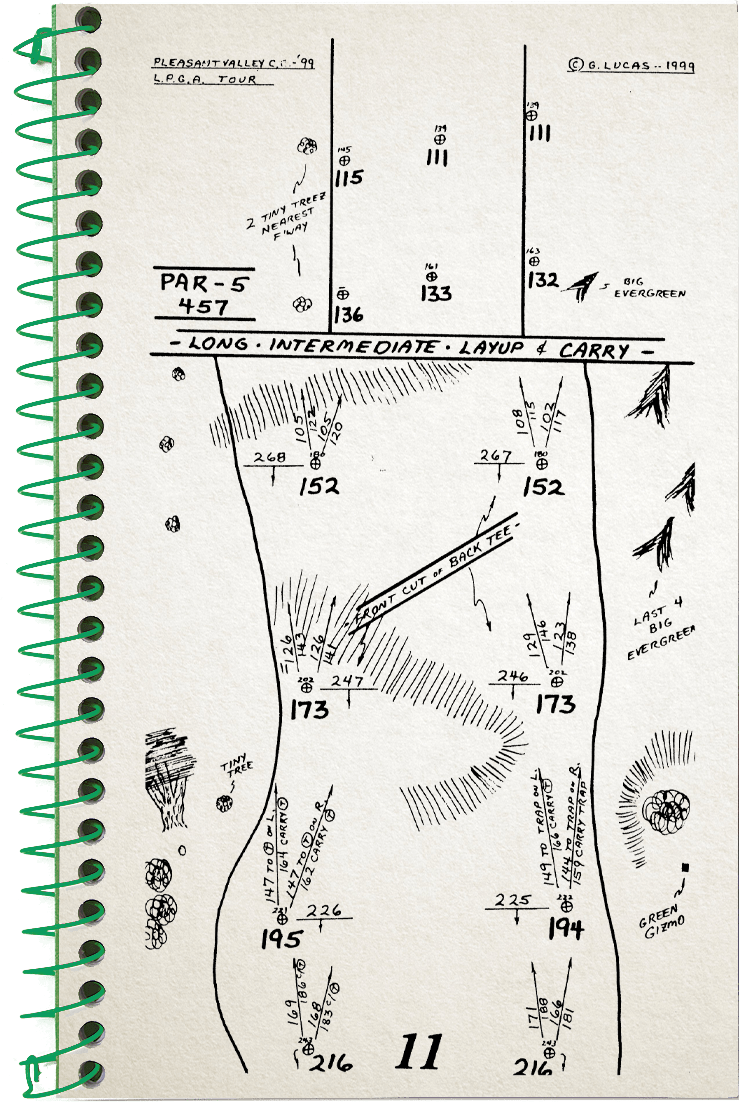 11th hole sketch