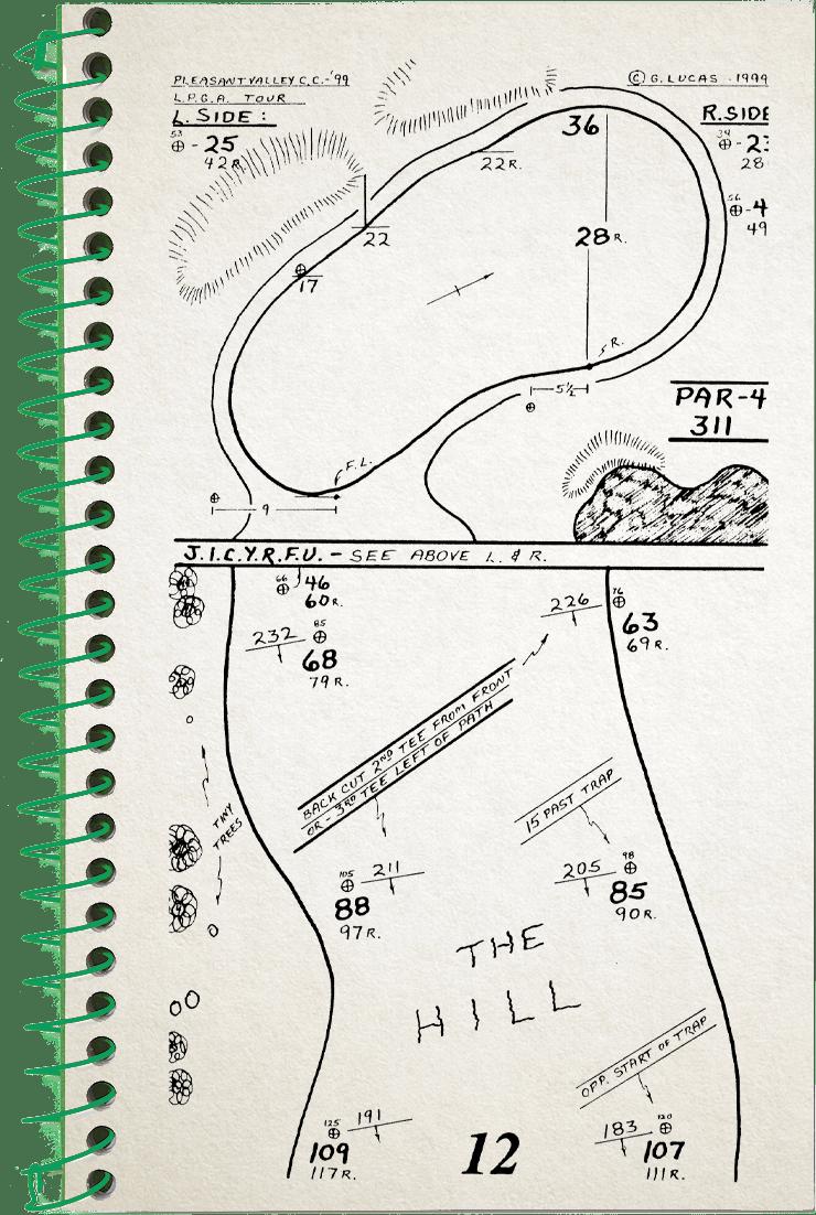 12th hole sketch