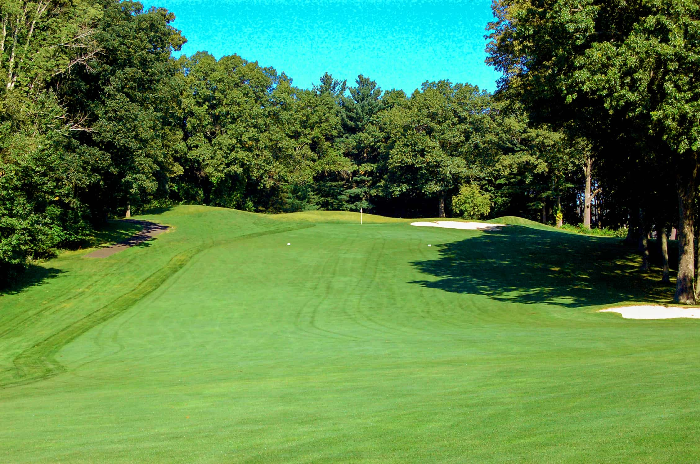 13th fairway to green pleasant valley country club