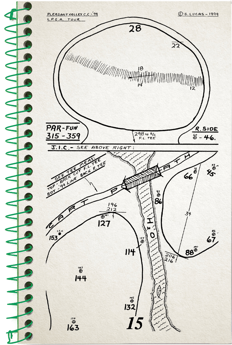 15th hole sketch