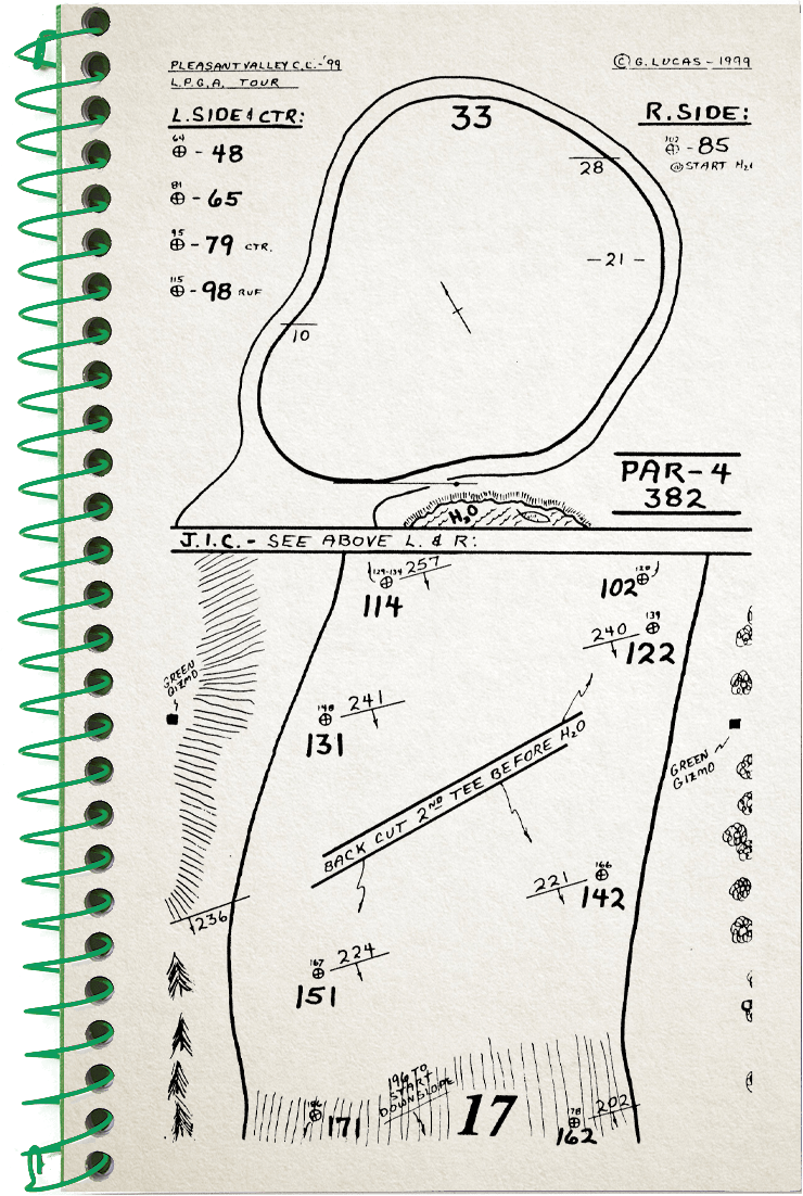 17th hole sketch