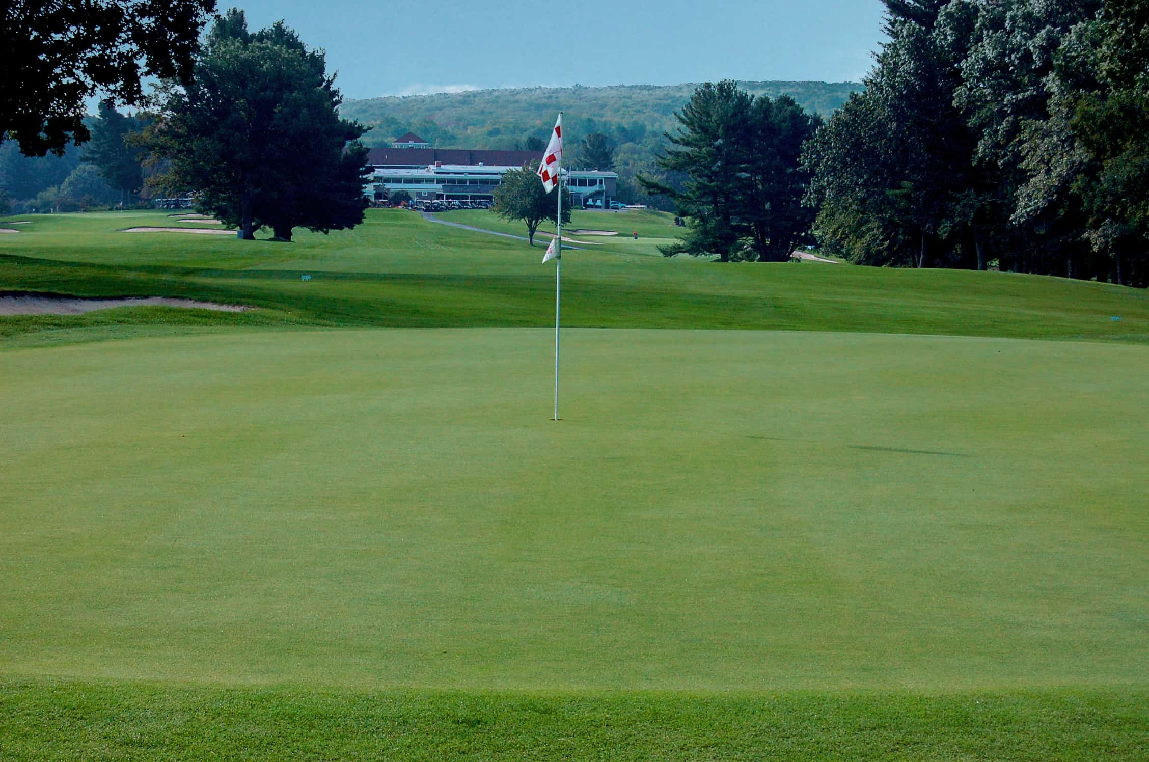 1st green at Pleasant Valley CC