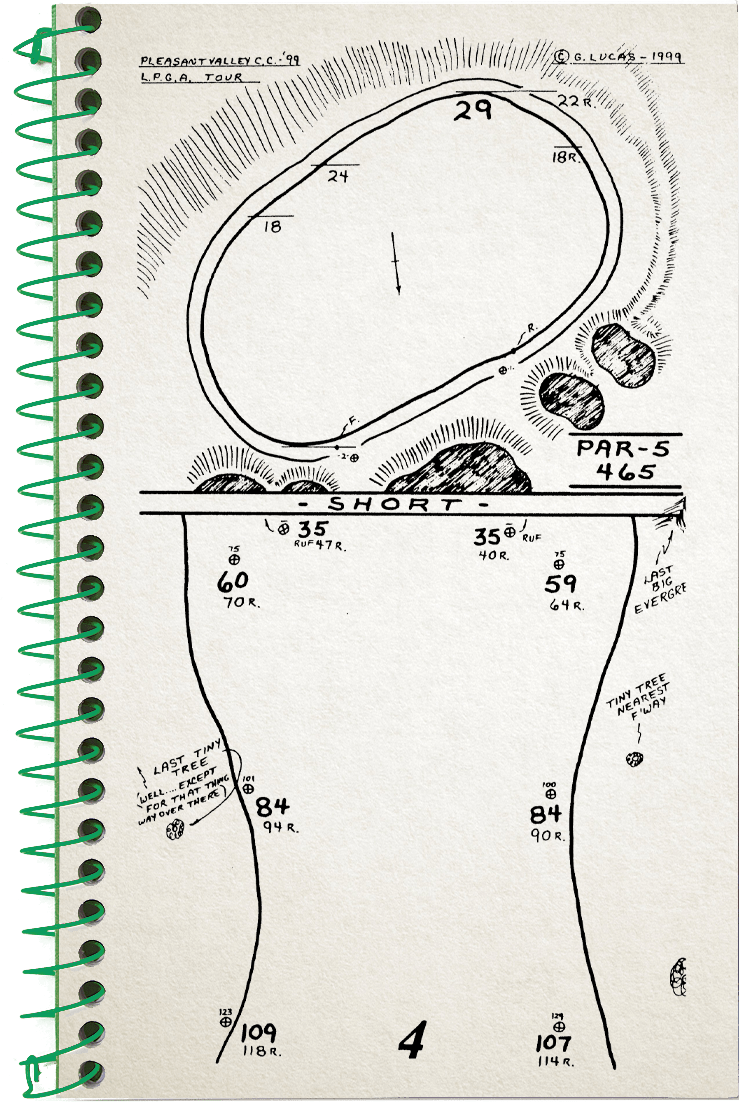4th hole sketch no.2