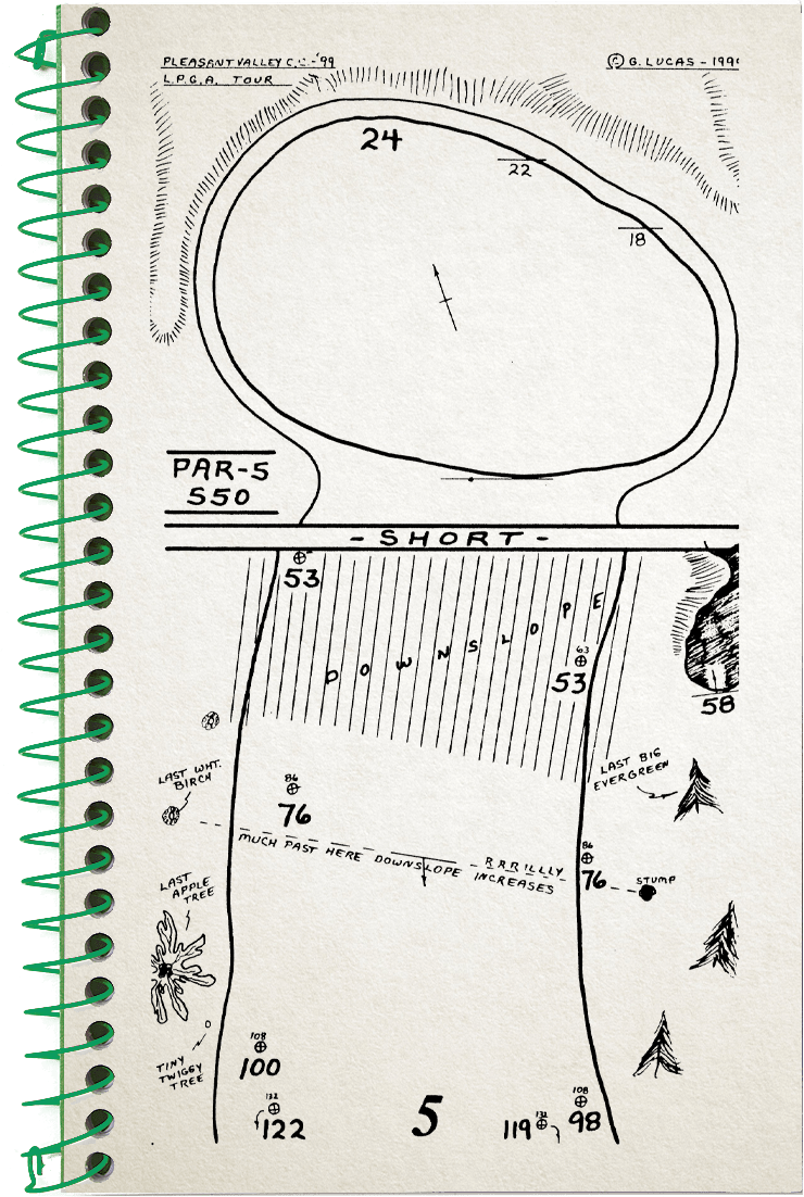 5th hole sketch no2