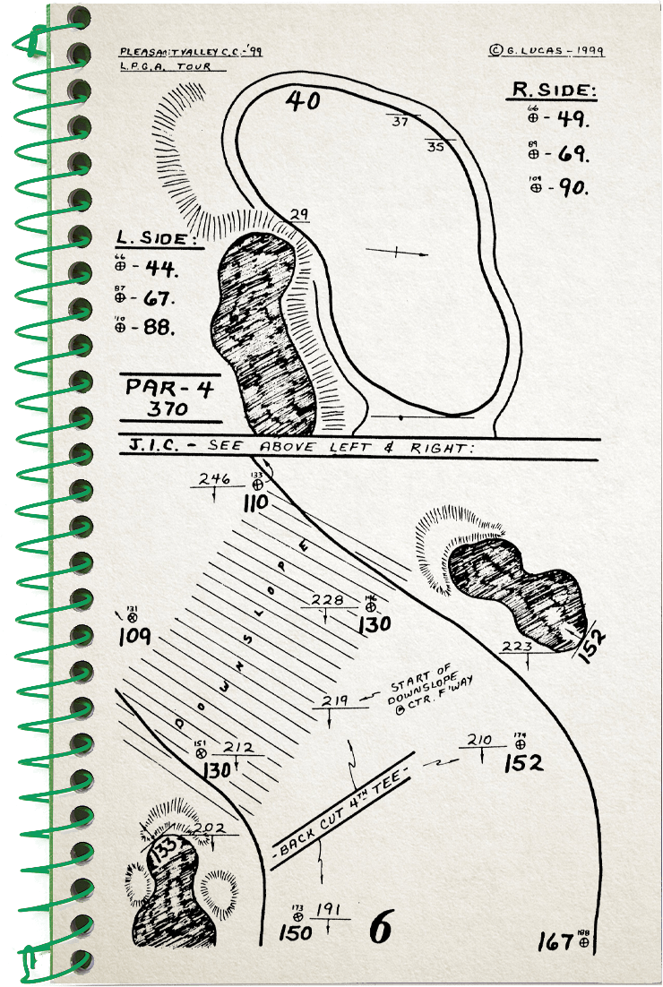 6th hole sketch