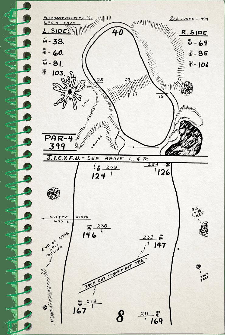8th hole sketch